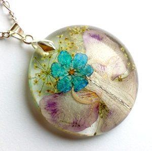 Cvetlični nakit - angelsko vilinska cvetlična ogrlica